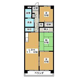 ポートシティ高木II[4階]の間取り