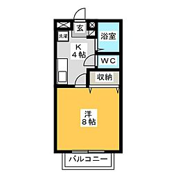 Lizza−1[2階]の間取り