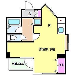 兵庫県神戸市灘区中原通6丁目の賃貸マンションの間取り