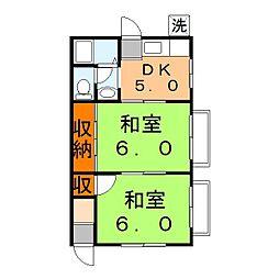 兵庫県姫路市網干区浜田の賃貸アパートの間取り