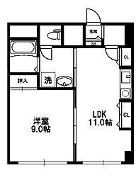 グランヴィ新大阪[5階]の間取り
