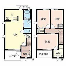 [テラスハウス] 兵庫県姫路市飾磨区構3丁目 の賃貸【/】の間取り