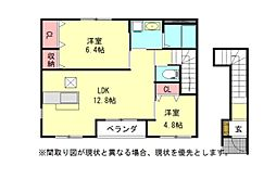 愛知県小牧市下小針天神3丁目の賃貸アパートの間取り