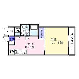 オムズガーデン[2階]の間取り