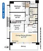 新築未入居 家具付きです専有面積68.72m2、3LDK