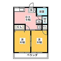 ドミールC[2階]の間取り