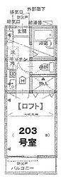 グランガーデン京急田浦[203号室]の間取り