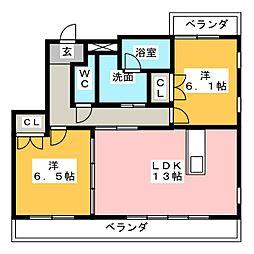 オレンジヒルズ[2階]の間取り