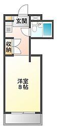 ハイツ冨久井I[2階]の間取り
