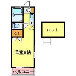 兵庫県尼崎市食満6丁目の賃貸アパートの間取り
