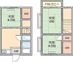 [テラスハウス] 神奈川県川崎市多摩区菅1丁目 の賃貸【/】の間取り