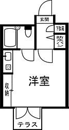 神奈川県横浜市金沢区釜利谷東6丁目の賃貸マンションの間取り