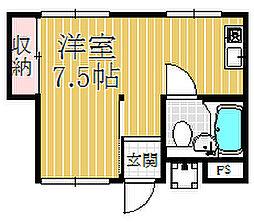 オネスト中島[301号室]の間取り