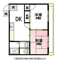 ハイツタビヤ[2階]の間取り