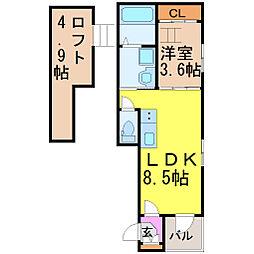 メゾン・ド・サントリナ[2階]の間取り