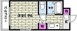 兵庫県神戸市東灘区住吉南町1丁目の賃貸マンションの間取り