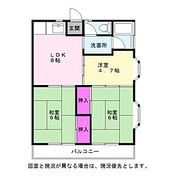 永岡アパート[201号室]の間取り