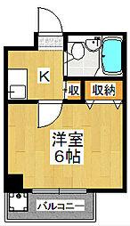 マンションTATSUMIYA[3階]の間取り