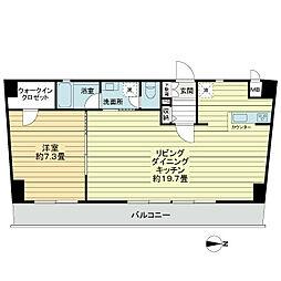 神奈川県横浜市神奈川区星野町の賃貸マンションの間取り