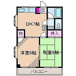 神奈川県川崎市中原区下小田中4丁目の賃貸マンションの間取り