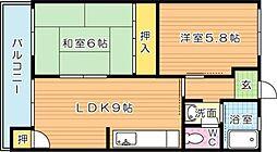 別所コーポ(分譲賃貸)[5階]の間取り