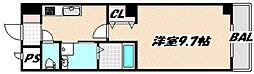 JR総武線 西船橋駅 徒歩6分の賃貸マンション 1階1Kの間取り