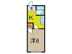 レモーネ戸田[1階]の間取り