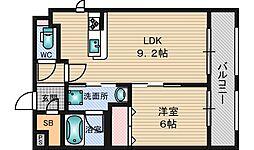 ブリランテ新大阪[3階]の間取り