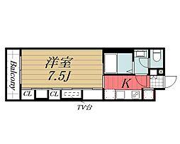 千葉県千葉市中央区亥鼻3丁目の賃貸アパートの間取り