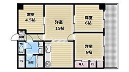 シャトー寿楽[6階]の間取り