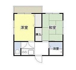本牧町1-199アパート[2階号室]の間取り
