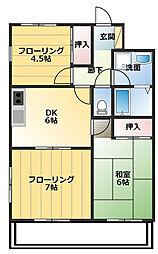 グレースマンション[0303号室]の間取り
