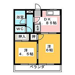 K・プラッツ[2階]の間取り