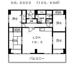 パディーブレイドII[9階]の間取り