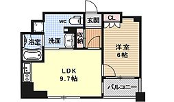 リーガル京都烏丸通り[402号室号室]の間取り