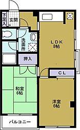 ドーム1番館[6階]の間取り