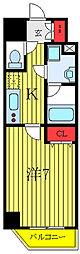 ユリカロゼAZ西台 4階1Kの間取り
