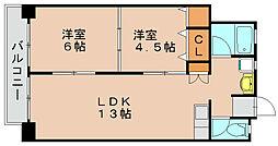 多の津ビル[7階]の間取り