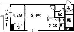 PRIME URBAN北14条[2階]の間取り