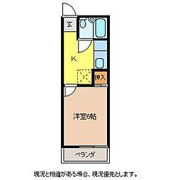 第三王神ハイツ[1階]の間取り