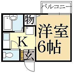 クレール桃ノ本[2階]の間取り