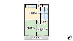 シティハイツ三郎丸[6階]の間取り