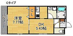 メゾン ドゥ ルミエール[1階]の間取り