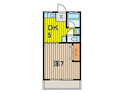 長野ハイツ[1階]の間取り
