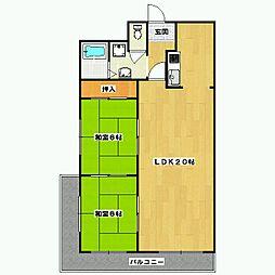 ロイヤル室町[2階]の間取り