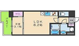 SERENiTE福島scelto[8階]の間取り