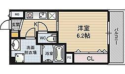 ウィンズコート西梅田[7階]の間取り
