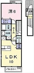 シンフォニーNAKANOII[2階]の間取り