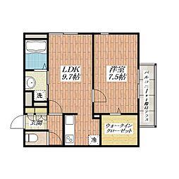 K2マンション[1階]の間取り
