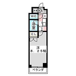 カンダミニアム小松島[4階]の間取り